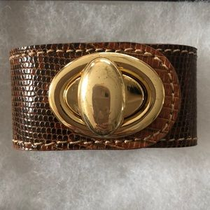Heather Hawkins leather cuff bracelet